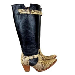 Circle G by Corral Python Snip Toe Tall Boots